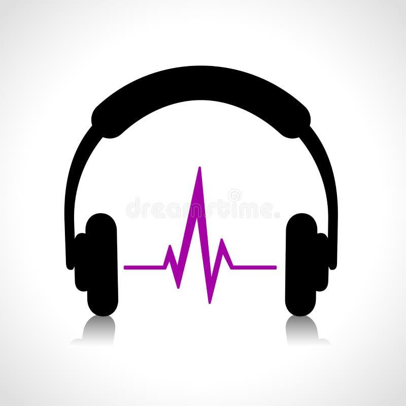 Hörlurar gör sammandrag symbolen vektor illustrationer