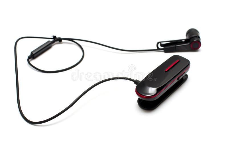 Hörlurar med mikrofon arkivbild