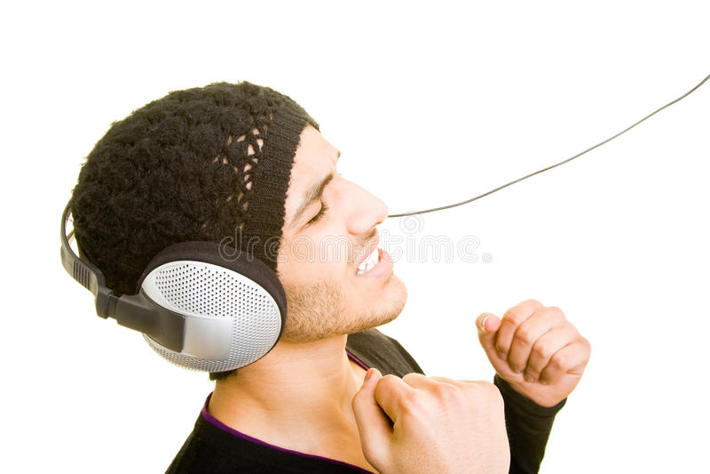 hörlurarman arkivbild