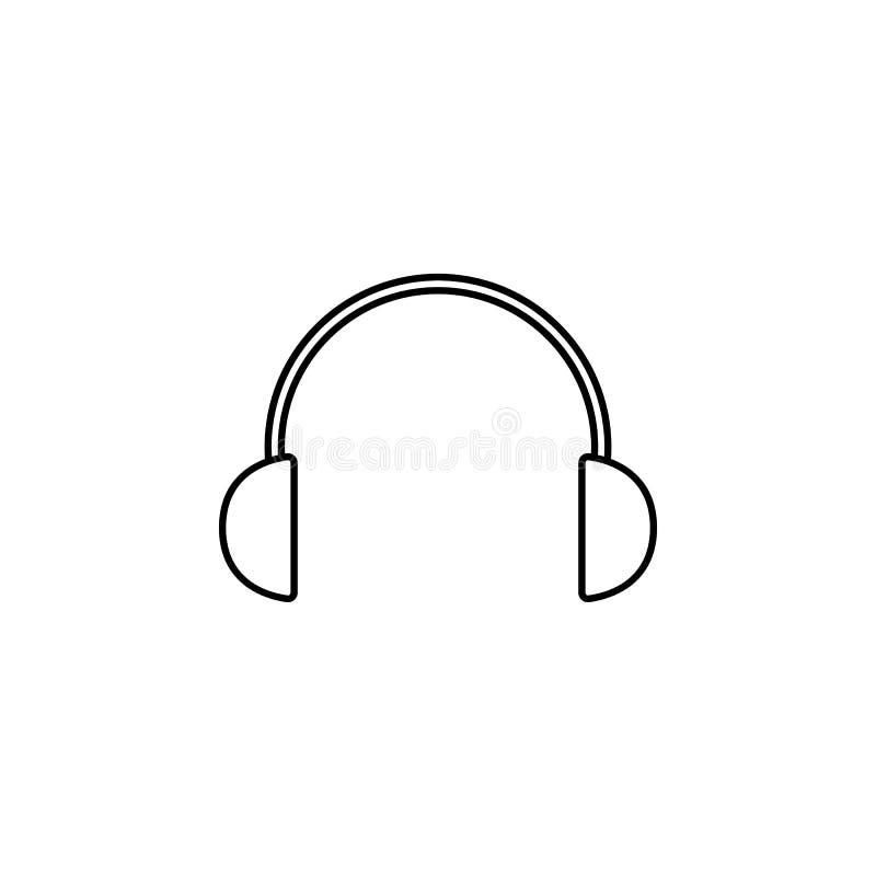 Hörlurarsymbol Beståndsdel av den enkla symbolen för websites, rengöringsdukdesign, mobil app, informationsdiagram Tunn linje sym vektor illustrationer