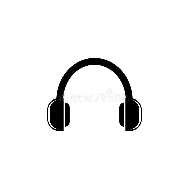 Hörlurarsymbol Beståndsdel av musiksymbolen Högvärdig kvalitets- symbol för grafisk design Tecken och symbolsamlingssymbol för we stock illustrationer