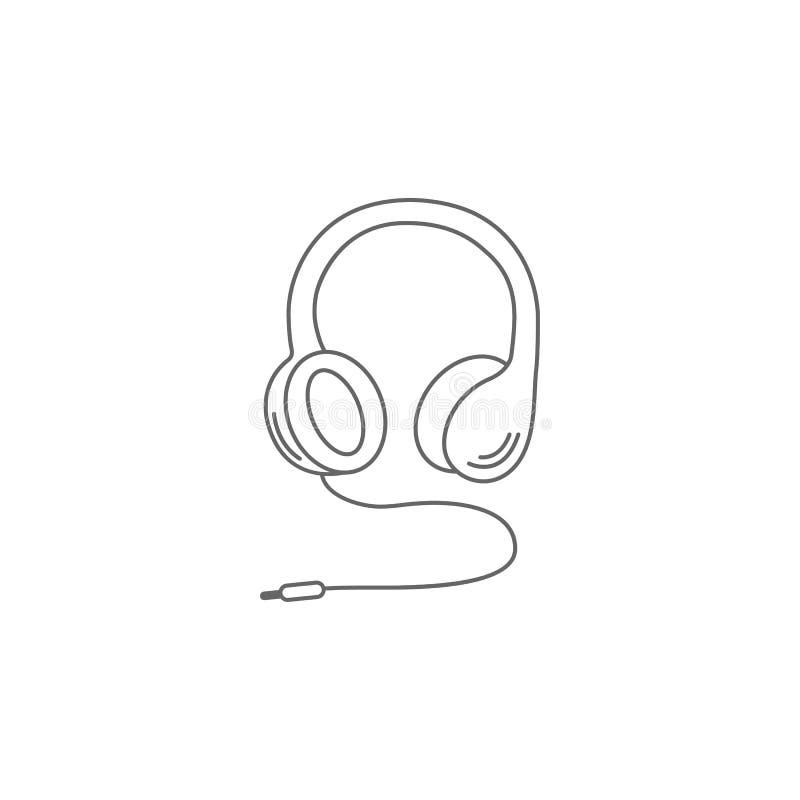 Hörlurarsymbol Enkel beståndsdelillustration Mall för hörlurarsymboldesign Kan användas för rengöringsduk och mobil vektor illustrationer