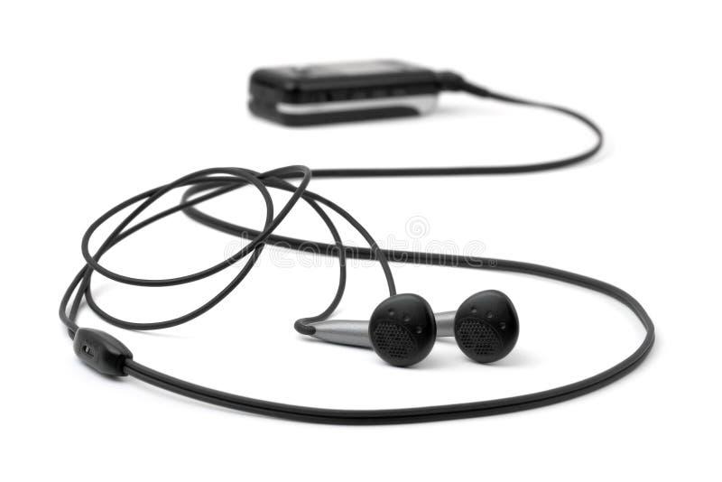 hörlurmp3-spelare arkivfoton