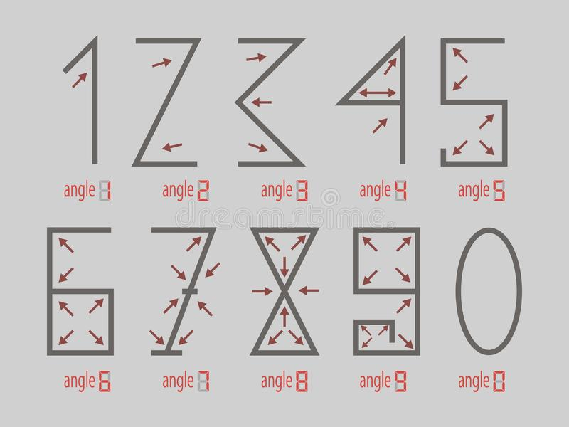 H?rn av diagram, pilar Diagram 1 2 3 4 5 6 7 8 9 0 ocks? vektor f?r coreldrawillustration royaltyfri bild