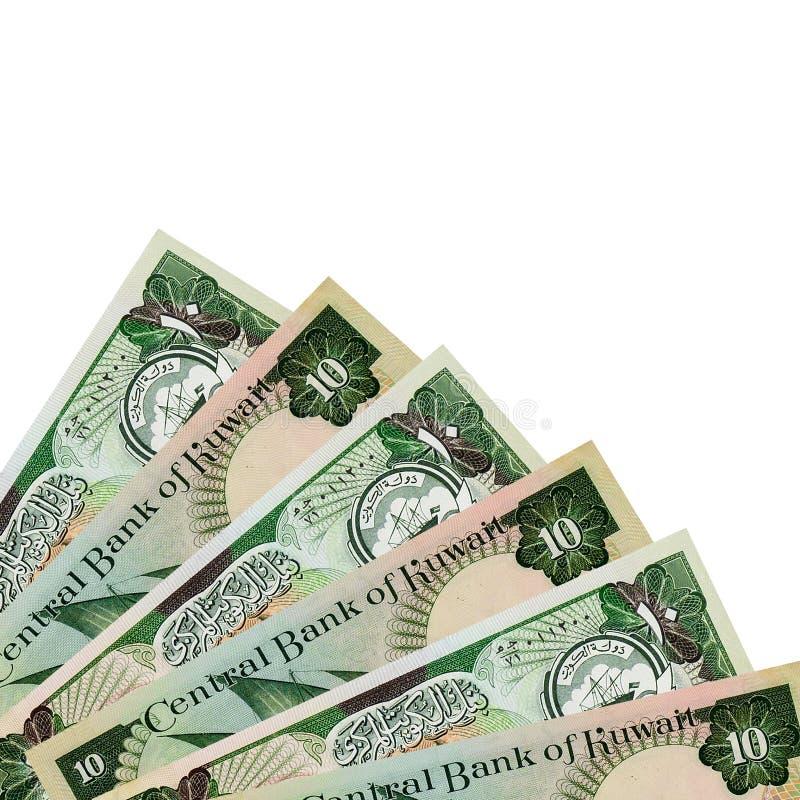 Hörn av kuwaitiska 10 dinar sedlar arkivbild