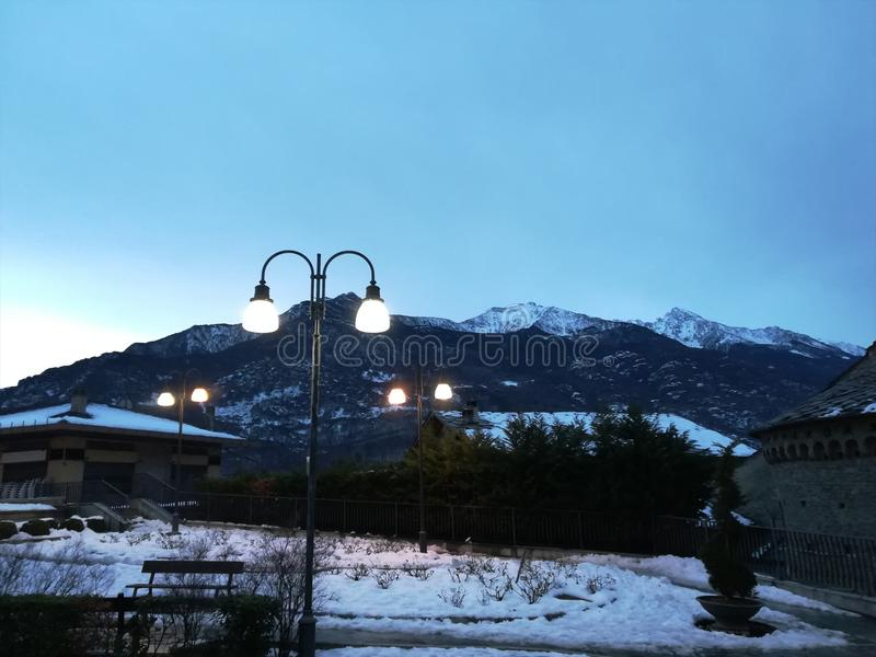 Hörn av Val D ` Aosta royaltyfri bild