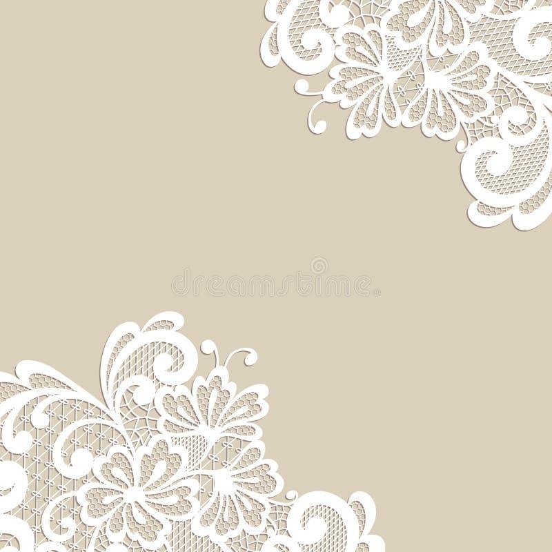 Hörn för blommavektorprydnad stock illustrationer