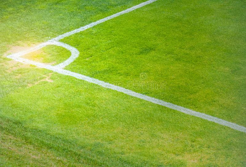 Hörn för fotbollfält royaltyfri fotografi