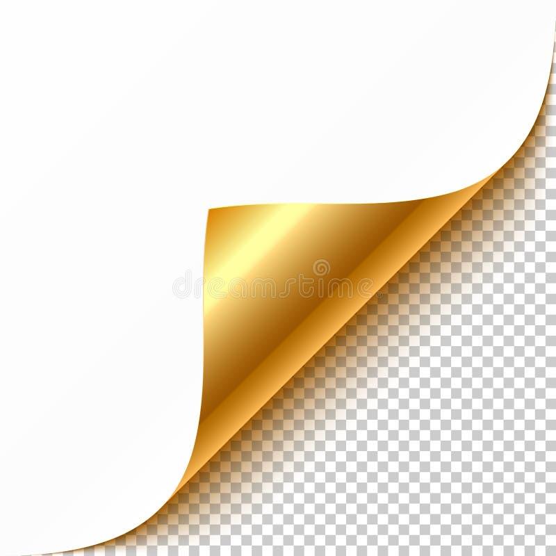 hörn krullad guld royaltyfri illustrationer
