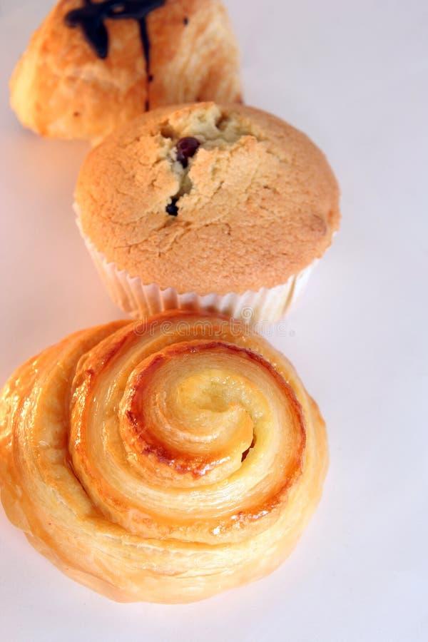 Hörnchen- und Muffinbrot stockbild