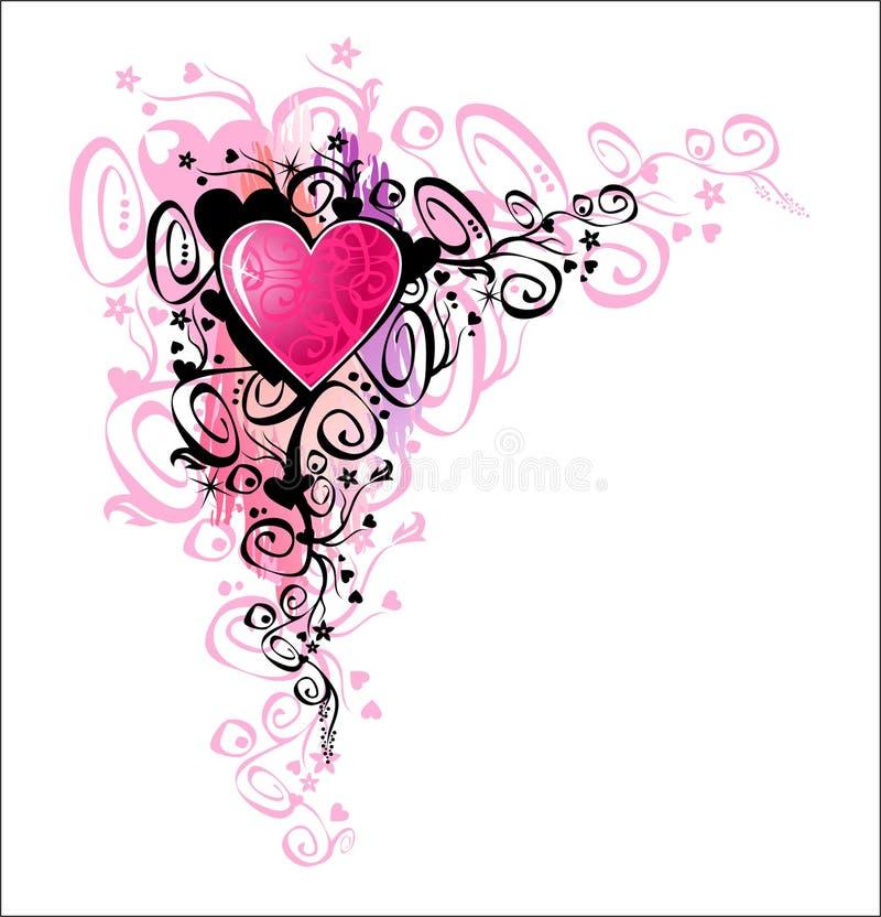 hörnhjärtaförälskelse royaltyfri illustrationer
