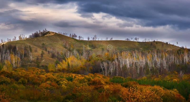 Höst i de Zhiguli bergen arkivfoto