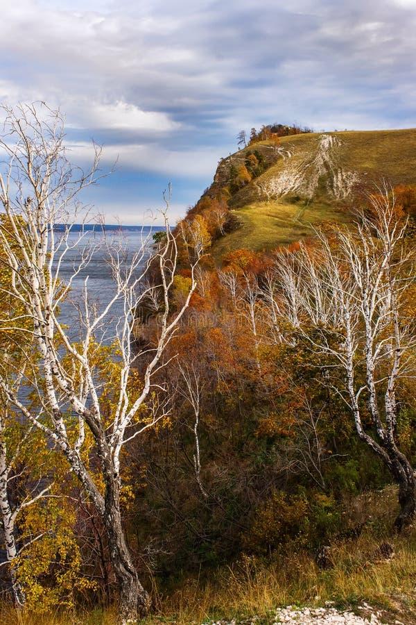 Höst i de Zhiguli bergen royaltyfria foton