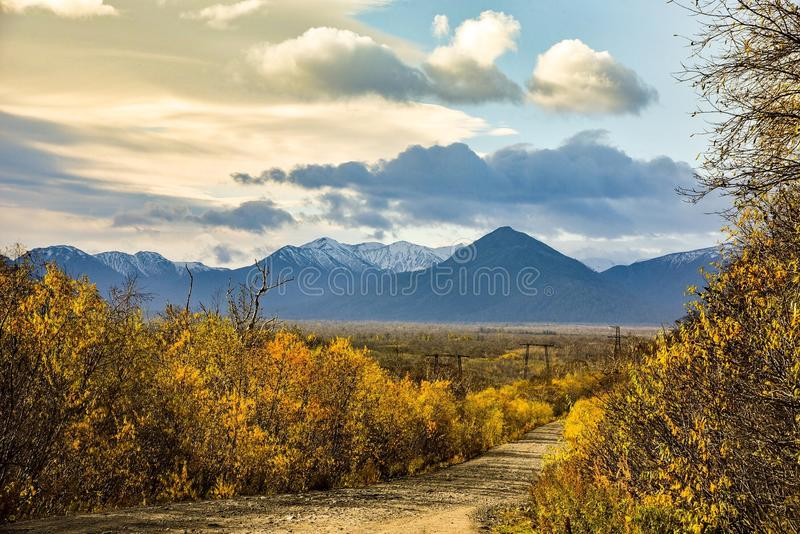 Höst i Kamchatka royaltyfria foton