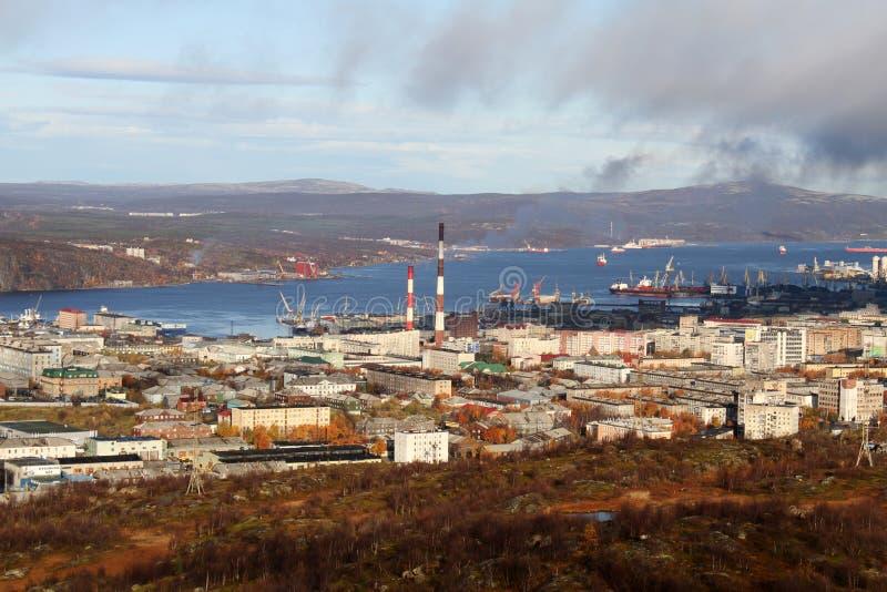 Höst i Murmansk arkivfoto