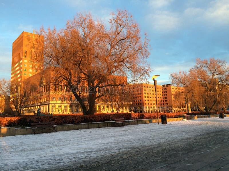Höst i Oslo royaltyfria bilder