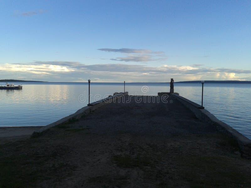 Höst Karelia, jakt, skog, landskap, Lake Ladoga royaltyfria bilder