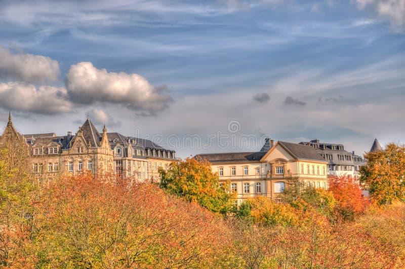 höst luxembourg arkivfoton