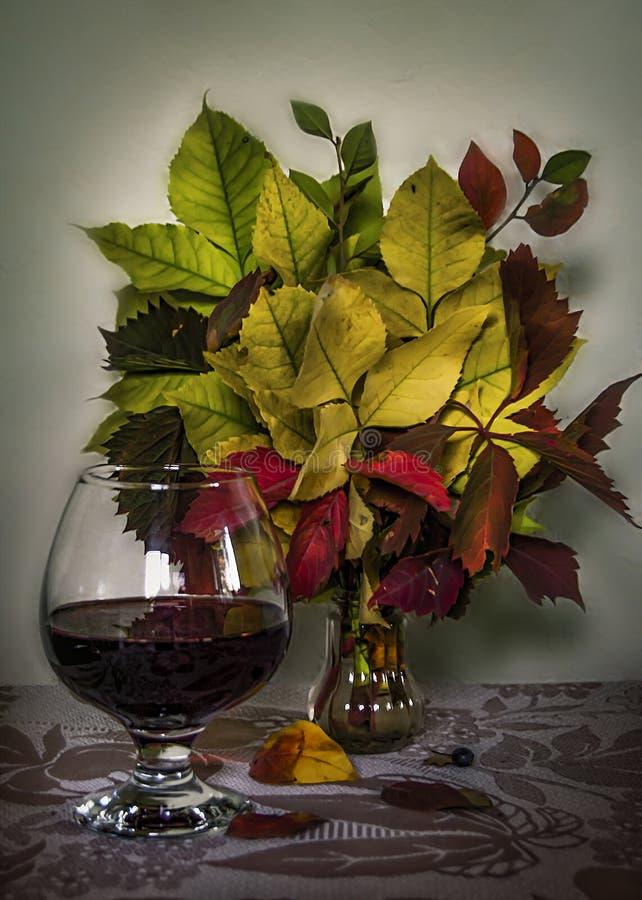 Höst med aromen av funderat vin Stilleben stock illustrationer