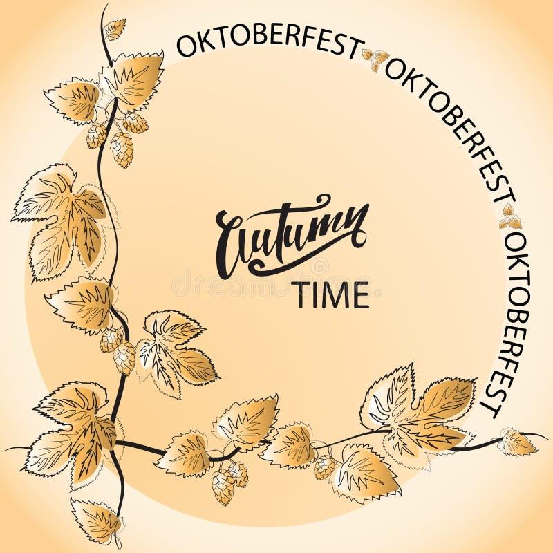 Höst Time oktoberfest stock illustrationer