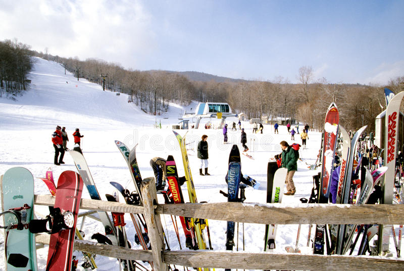 Höstack Ski Resort royaltyfria foton