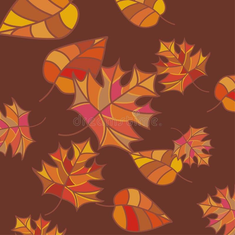 höstbakgrund vektor illustrationer