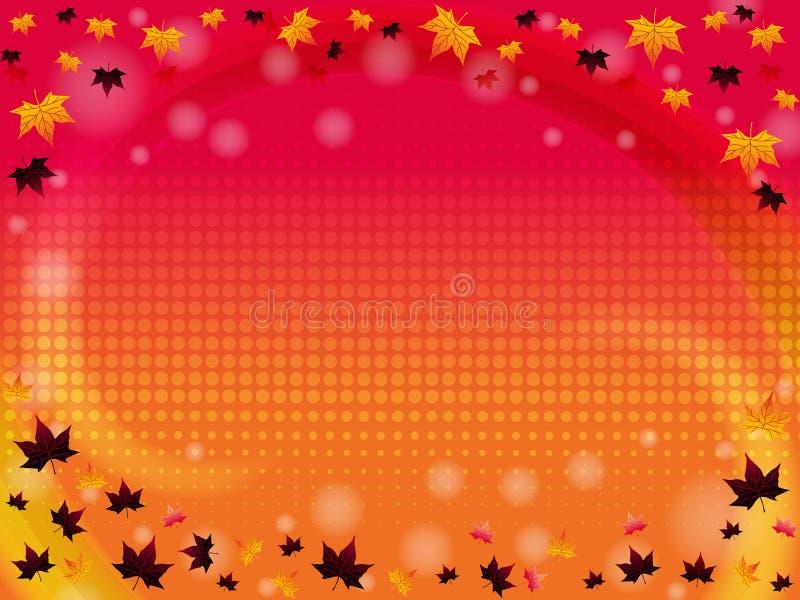 höstbakgrund stock illustrationer