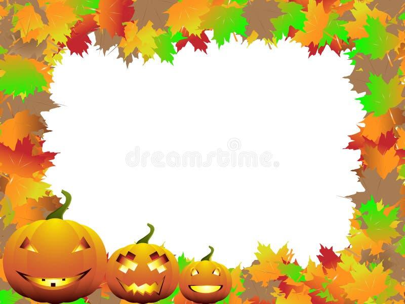 höstbakgrund halloween stock illustrationer