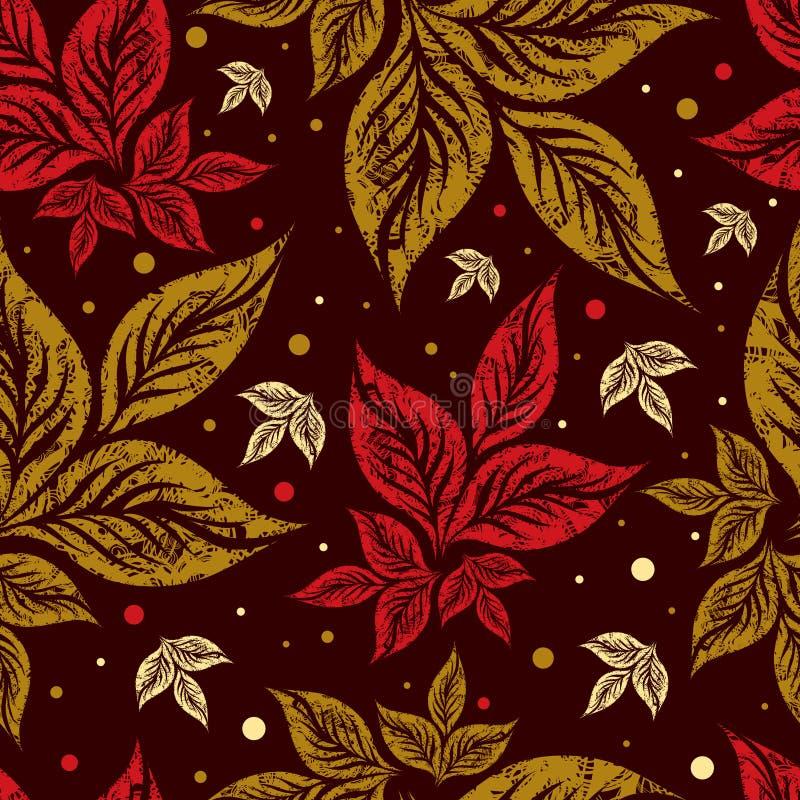 höstbakgrund låter vara seamless tacksägelse royaltyfri illustrationer