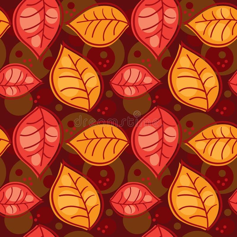 hösten blad den seamless modellen royaltyfri illustrationer