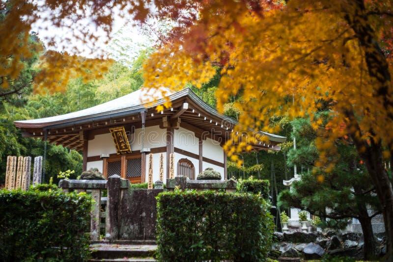 Hösten i den Jojakko-ji templet, Kyoto, Japan arkivfoton