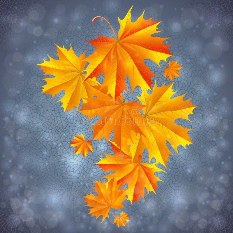 Hösten lämnar bakgrund royaltyfri illustrationer