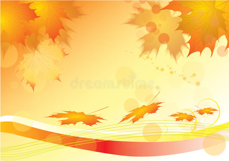 hösten låter vara lönn royaltyfri illustrationer