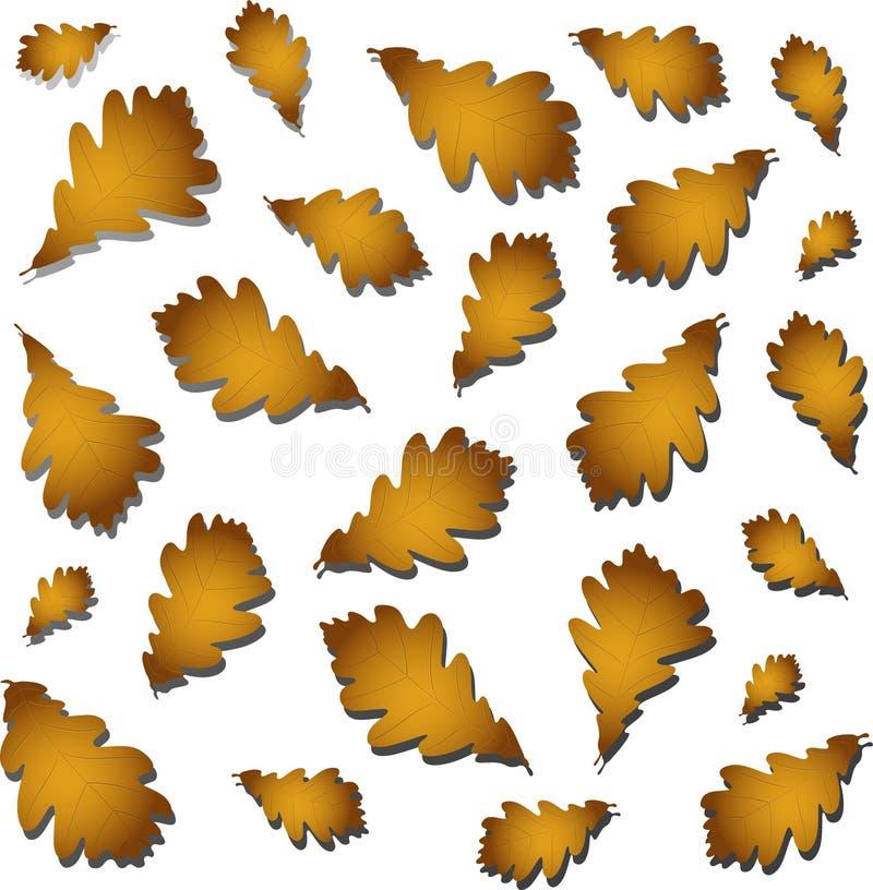 hösten låter vara oaken stock illustrationer