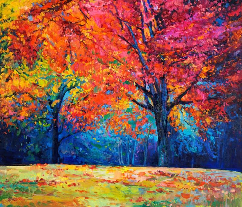 Hösten landskap royaltyfri illustrationer