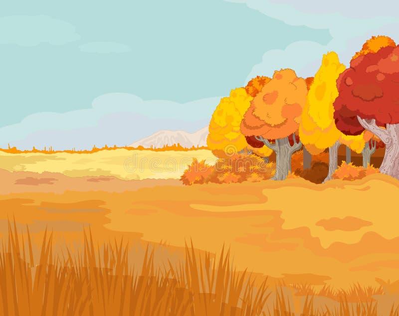 Hösten landskap vektor illustrationer