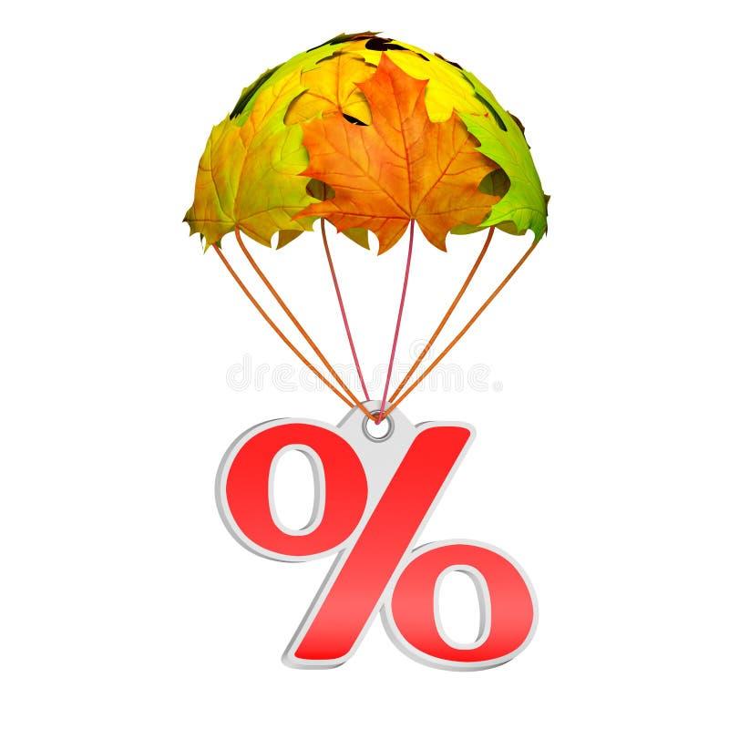 Höstetikett med procenttecknet vektor illustrationer