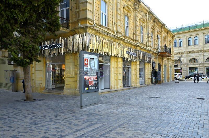 Höstgator av Baku arkivfoton