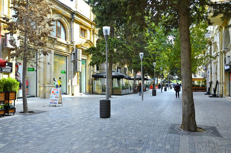 Höstgator av Baku arkivbilder