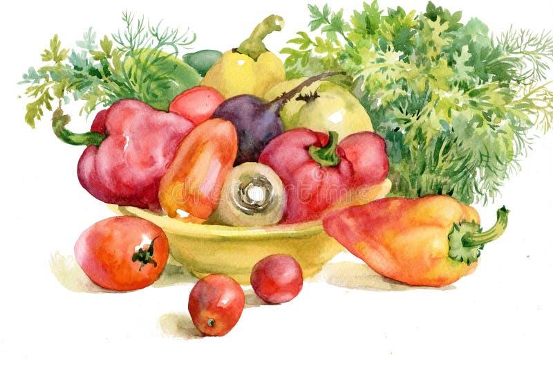 Höstgrönsaker stock illustrationer