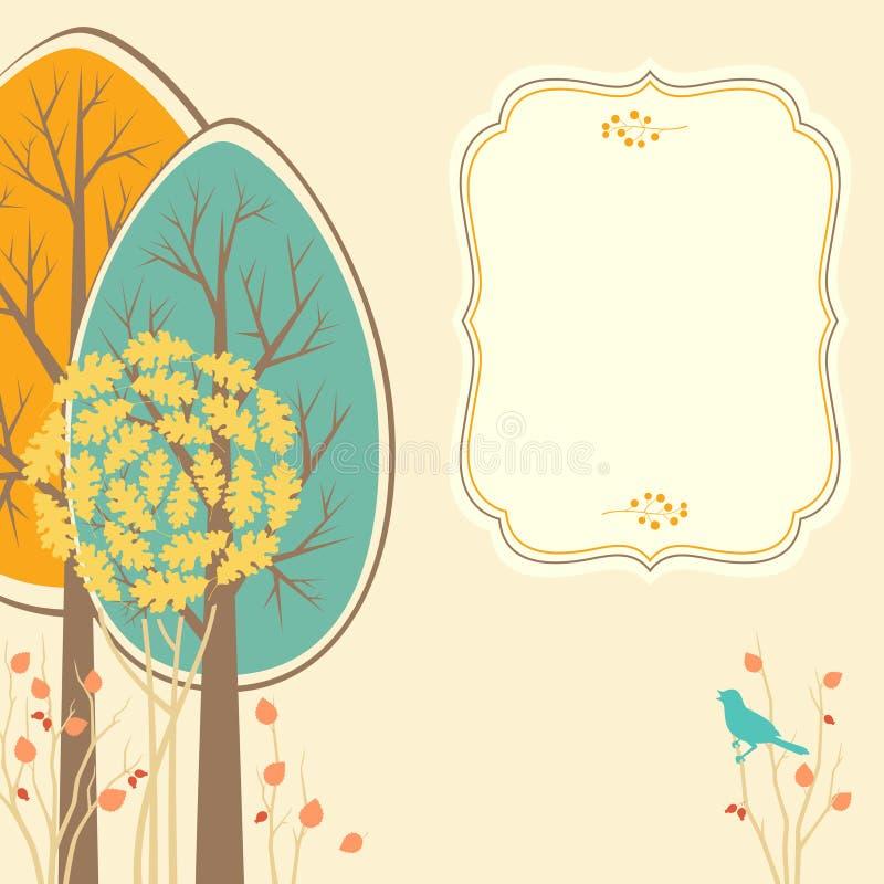 Höstkort royaltyfri illustrationer