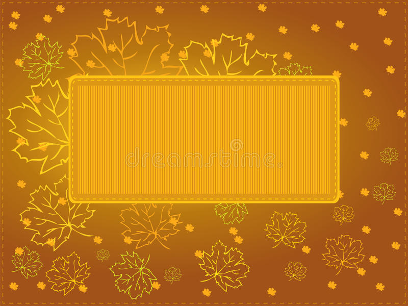 Höstkort som kan användas till mycket - version eps8 royaltyfri illustrationer