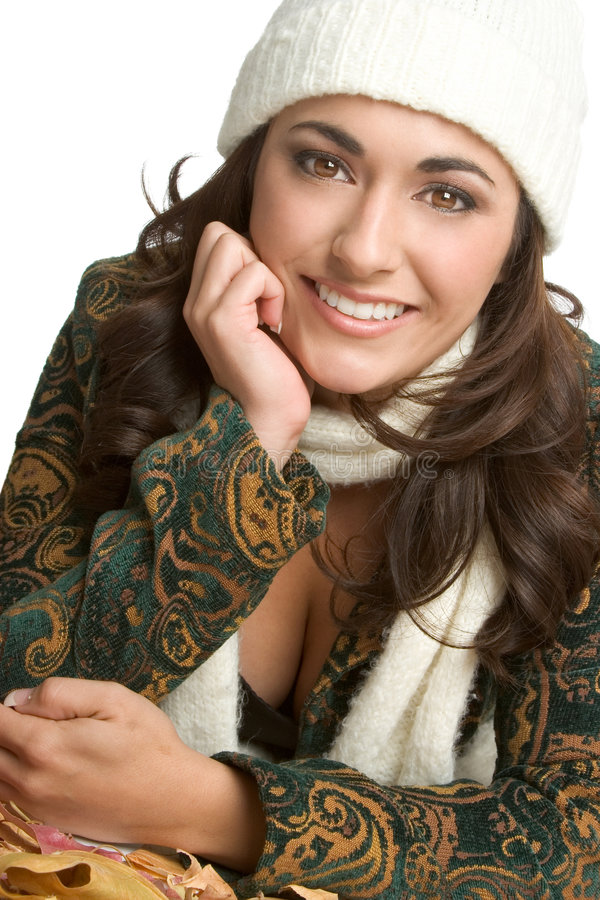 höstkvinna royaltyfri fotografi