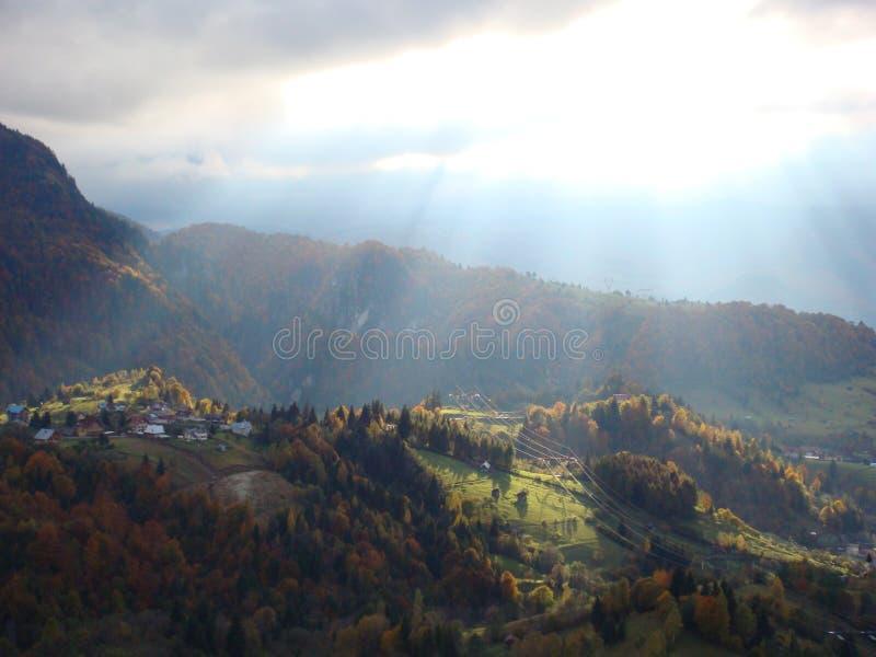Höstlandskap Rumänien arkivfoto