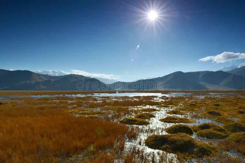 Höstlandskapet av Pamirs royaltyfri fotografi
