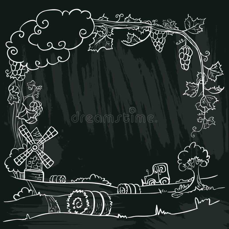 Höstlantgård royaltyfri illustrationer