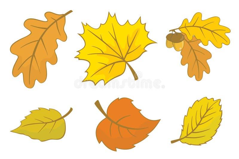höstleaves vektor illustrationer