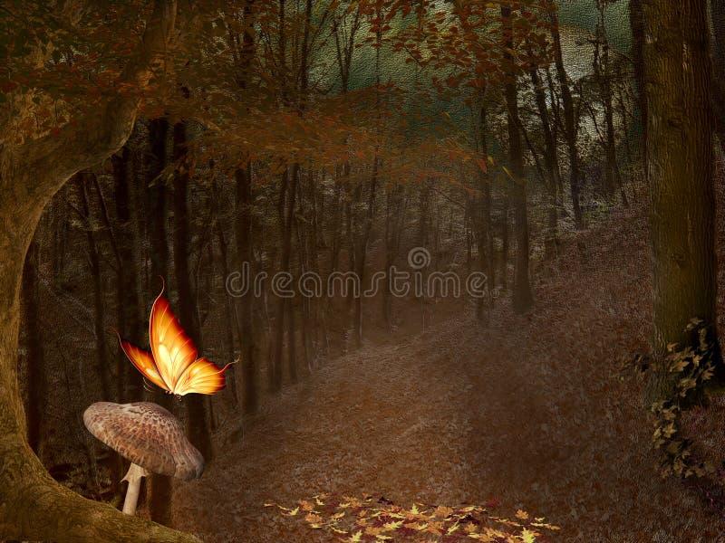 Höstlig skog vektor illustrationer