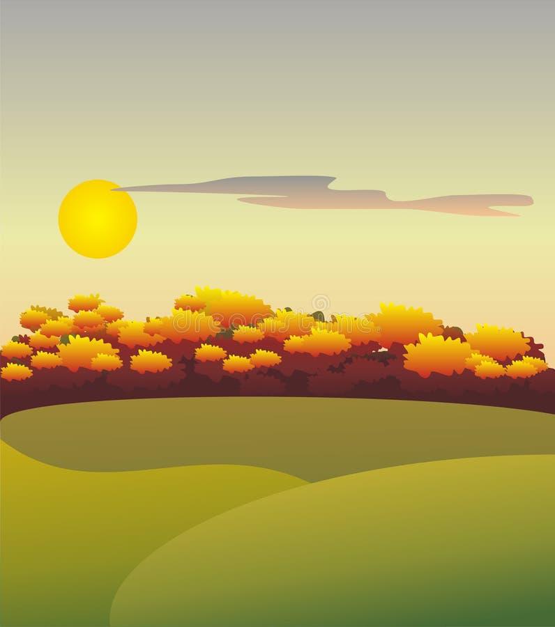 höstliggande stock illustrationer