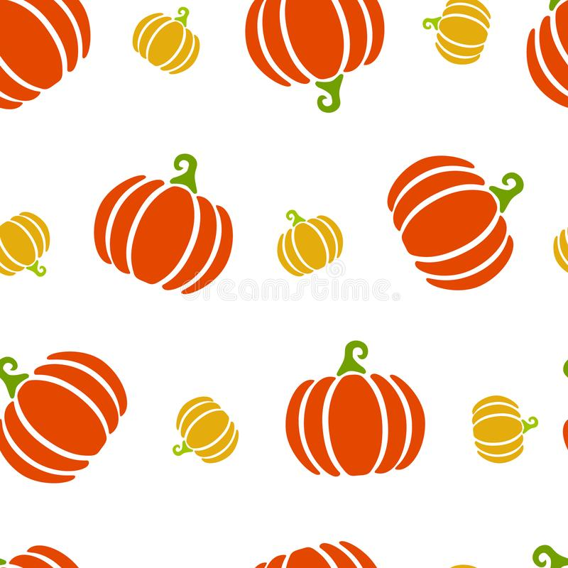 Höstmodell av orange och gula större och mindre pumpor Skörden höst har kommit vektor illustrationer